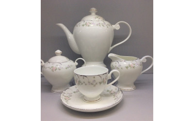 Сервиз чайный 17 предметов на 6 персон Ностальжи JDJQW-4, Japonica