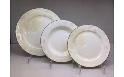 Набор тарелок 18 предметов на 6 персон Бежевая роза J05-153BG-2, Japonica