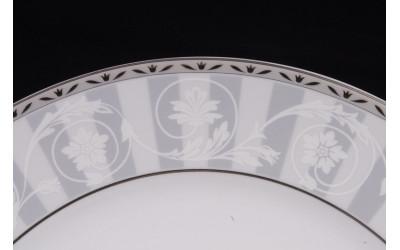 Набор тарелок десертных 6шт 19см 02160329-1013 Сабина Серый орнамент, Leander