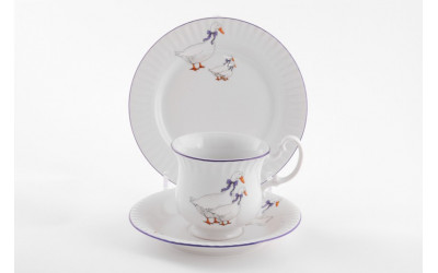 Сервиз для завтрака-1п. 3предм.-чай. 28130815-0807 Гуси, Leander