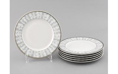 Набор тарелок десертн. 6шт. 17см 02160327-1013 Сабина Серый орнамент, Leander