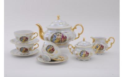 Сервиз чайный 15 предм. 07160725-0676 Соната Мадонна перламутр, Leander