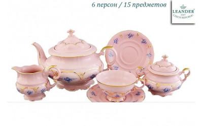 Сервиз чайный 15 предм. 07260725-0009 синие цветы, Leander