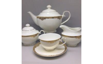 Сервиз чайный 17 предметов на 6 персон Ампир GD-1653-4, Japonica