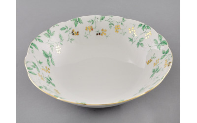 Салатник 26см 03111418-1381 Мэри-Энн Зеленые листья, Leander