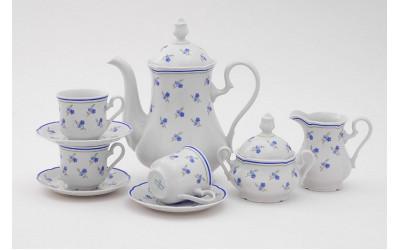 Сервиз кофейный 15предм. чаш. 0,15л 03160714-0887 Мэри-Энн Синие цветы, Leander