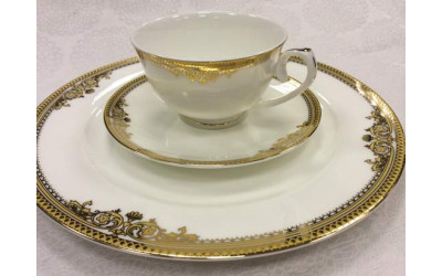 Набор тарелок 18 предметов на 6 персон Ампир GD-1653-2, Japonica