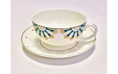 """JDWX5606-8 Чашка с блюдцем 350мл  """"Изуми"""" JDWX5606-8"""