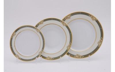 Набор тарелок 18предм.с тарел.дес. 19см 02160129-0711 Золотые фрукты, Leander