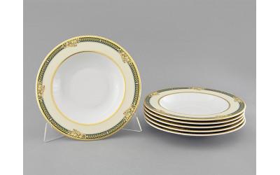 Набор тарелок глубоких 6шт 23см 02160223-0711 Золотые фрукты, Leander