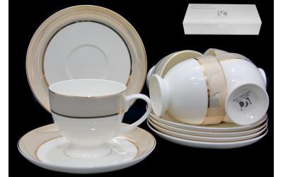 125-073 чайный набор 12пр. ЗОЛОТАЯ СИМФОНИЯ