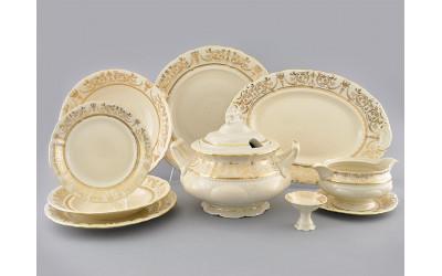 Сервиз столовый 25предм. 07562011-1373 Соната Золотой орнамент, отводка золото, Leander
