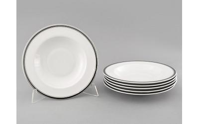 Набор тарелок глубоких 6шт 23см 02160223-0011 Отводка платина, Leander