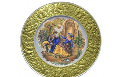 Тарелка декоративная подвесная 21 см 20111144-275C