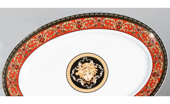 Блюдо для гарнира овальное 22см 02111735-B979 Красная лента Версаче, Leander