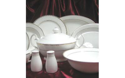 Сервиз столовый 26 предметов на 6 персон Свадебный EMGD-4053P Gyem-1, Japonica