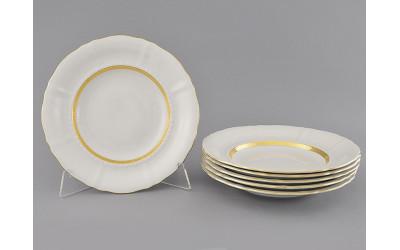 Набор тарелок глубоких 6шт 23см 07160213-1239 Соната Золотая лента, слоновая кость, Leander