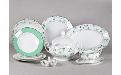 Сервиз столовый 25 предм. 03162011-1381 Мэри-Энн Зеленые листья, Leander