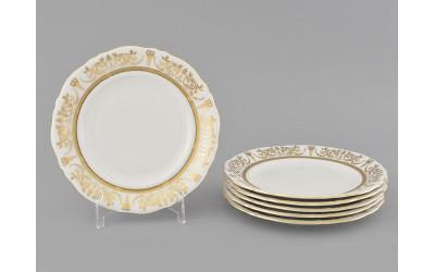 Набор тарелок десертн. 6шт. 17см 07160317-1373 Соната Золотой орнамент, отводка золото, Leander