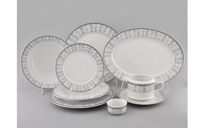 Сервиз столовый 24предм. 02162124-1013 Сабина Серый орнамент, Leander