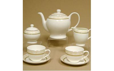 """Сервиз чайный 17 предметов на 6 персон """"Медея"""" GD-4141-4, Japonica"""
