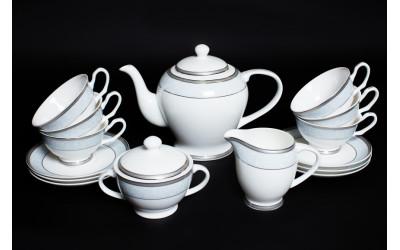 Чайный сервиз на 6 персон Узор, Rulanda, костяной фарфор