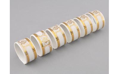 Набор колец для салфеток 6шт 02164611-A126 Версаче золотая лента, Leander