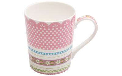 Кружка (розовая) Шантильи в подарочной упаковке