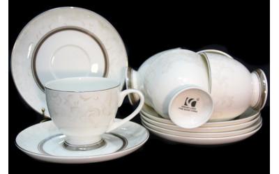 125-139 чайный набор 12пр. СЕРЫЙ ШЕЛК