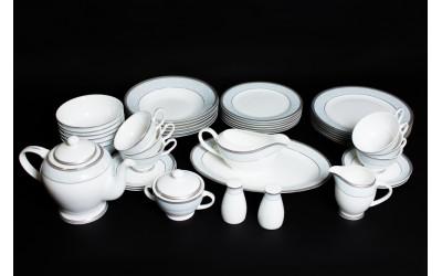 Чайно-Столовый сервиз на 6 персон 45 предметов Узор, Rulanda, костяной фарфор