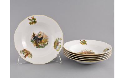 Набор тарелок глубоких 6шт. 23см 03160213-0363 Мэри-Энн, Охота, Leander