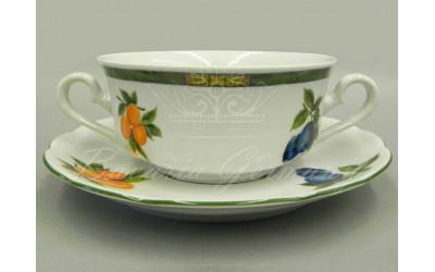 Набор чашек для супа с бл. 2р. 0,35л 6шт. 03160674-080H Мэри-Энн Фруктовый сад, Leander