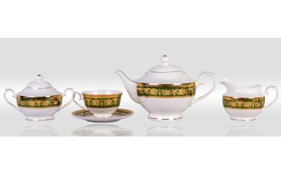 Сервиз чайный 6/17 Малахит EMGD-4260D.GR-4