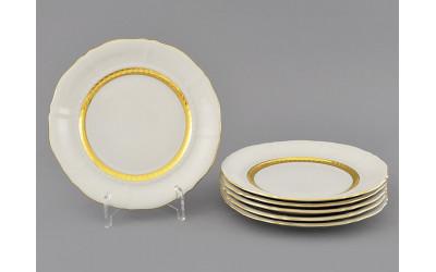 Набор тарелок десертн. 6шт. 17см 07160317-1239 Соната Золотая лента, слоновая кость, Leander