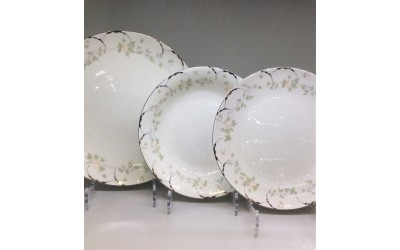 Набор тарелок 18 предметов на 6 персон Ностальжи JDJQW-2, Japonica