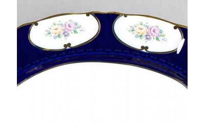 Блюдо для костей 07114913-0419 Соната Розовый цветок, кобальтовый орнамент, Leander
