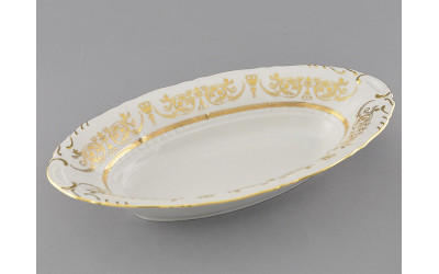Корзина для хлеба 33,5см 07112816-1373 Соната Золотой орнамент, отводка золото, Leander
