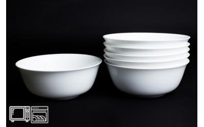 Набор салатников 6 шт 15 см Белый, костяной фарфор