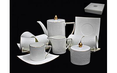 555-049 чайный сервиз15предм. БЕЛАЯ РОЗА