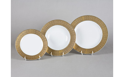 Набор тарелок 18предм.с тарел.дес. 19см 02160129-2327
