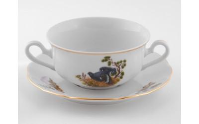Набор чашек для супа 350 мл 6 шт., Мэри-Энн, Охота, Leander