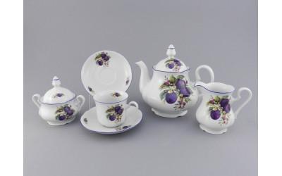 Сервиз чайный 15 предм 03160725-2408 Мэри-Энн Сливы, Leander