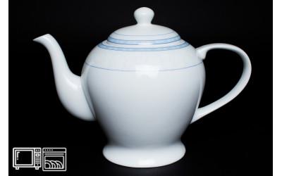 Чайник 1 литр Утренний, костяной фарфор