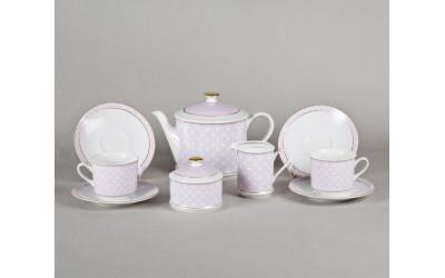 Сервиз чайный 15предм. 02160725-243A Сабина Лиловое плетение, Leander