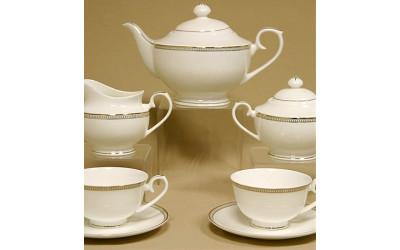 """Сервиз чайный 17 предмета на 6 персон """"Рояль"""" GD-1900 BK-4, Japonica"""