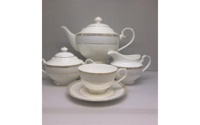 Сервиз чайный 17 предметов на 6 персон Голубая лесенка J04-185S-4, Japonica