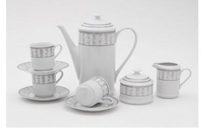 Сервиз кофейный мокко 15 предм. 02160713-1013 Сабина Серый орнамент, Leander