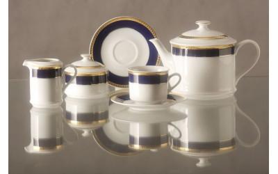 Сервиз чайный 15предм. 02160725-0767 Кобальтовая лента, Leander