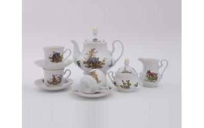 Сервиз чайный 15 предм 03160725-0363 Мэри-Энн, Охота, Leander