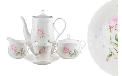 Чайный сервиз 17 предметов на 6 пресон Апрельская роза